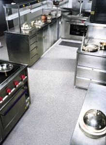 A commercial kitchen overcomes its resurfacing concrete problems with the installation of a new floor.