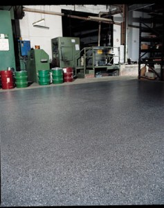 The new self leveling floor resin coating shines brilliantly over this once dilapidated concrete.