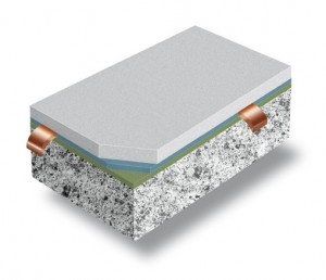 A side view illustration of our best non skid flooring for boats demonstrates the protecting powers of Silikal systems.