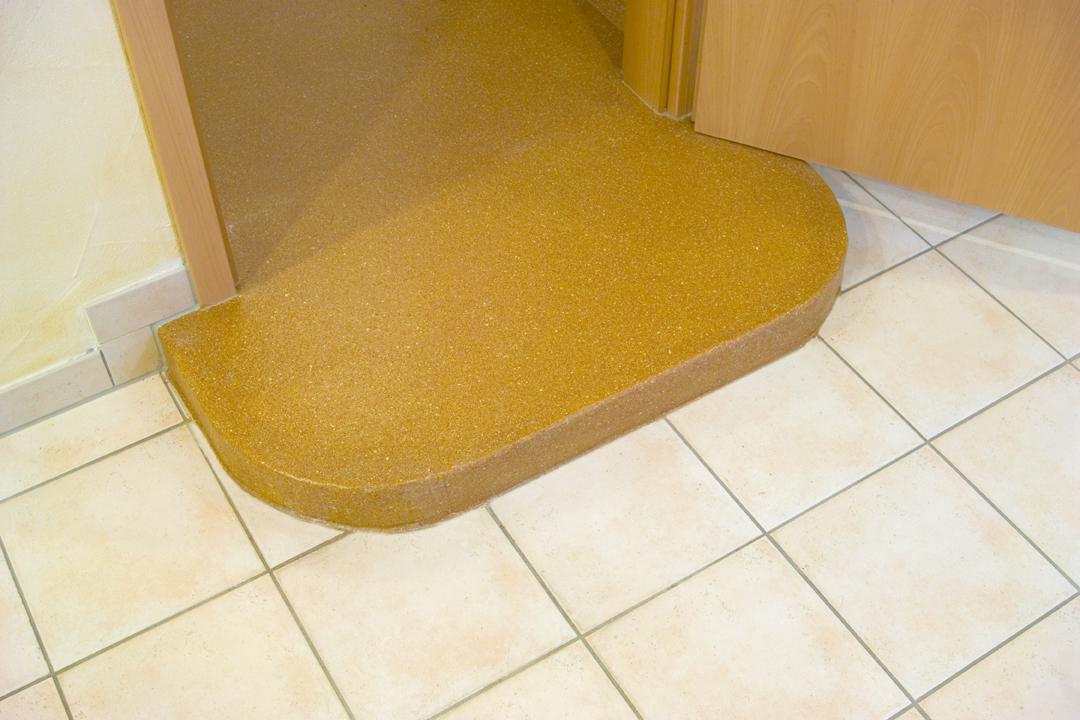Slip resistant floor tiles