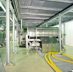 Specified floor resins protect this large mechanical room.