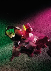 Spilled chemicals demonstrate resisting top coatings flooring products able to counter abrasion.