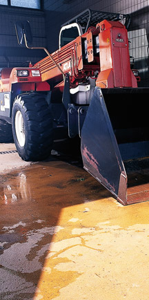 Large Equipment Resting On Strong Industrial Flooring.