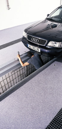Mechanic Working On A Car That Is Sitting On Dependable Flooring.