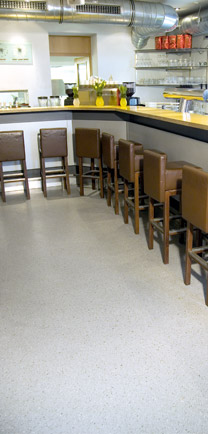 Bar With Stools Resting On Quality Floor Coating.