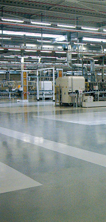 Industrial Machinery Resting On Dense Floors.