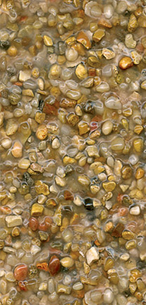 River Rock Choice For Architectural Flooring.