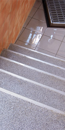Long Lasting Commercial Floor Applied To Stairs.