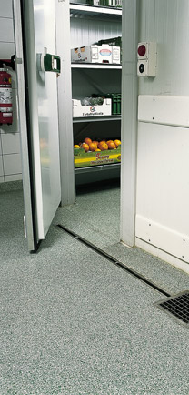 Commercial Construction Walk-In Freezer With Specialty Flooring.