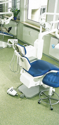 Dentist Office Chair Sitting On Commercial Construction Flooring.