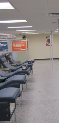 Commercial Construction Flooring In Blood Bank.