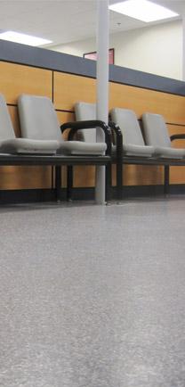 Hospital Flooring Materials In Waiting Room.