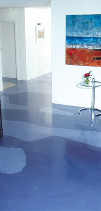 Seamless Office Flooring Solution That Has Inlaid Silhouettes.