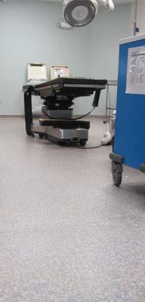 Hospital Flooring Materials In Operating Room.