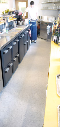 Commercial Kitchen With The Solution To Seamless Flooring.
