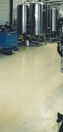 Eco-Friendly Flooring In A Beverage Production Plant.