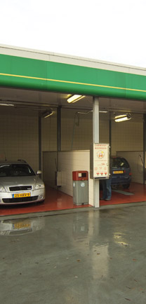 Car Wash Bays With Water Resistant Flooring.