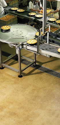 Conveyer On Flooring For Industrial Kitchens.