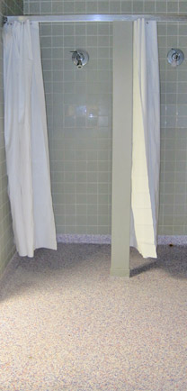 Water Resistant Flooring In Public Showers.