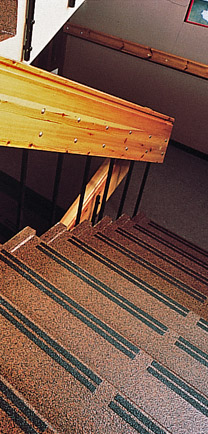 Cultural Center Stairs With Durable Flooring.