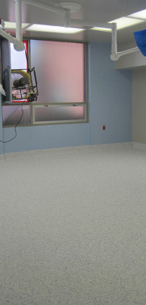Empty Room With Specialty Flooring For The Healthcare Industry.
