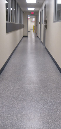 Durable Flooring In Hallway Outside A Lecture Hall.