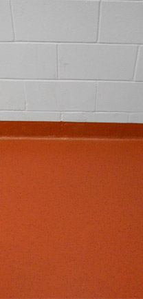 Lecture Hall Flooring In Orange.
