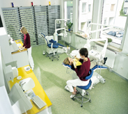 Dentist office protected with flooring enriched with antibacterial properties.