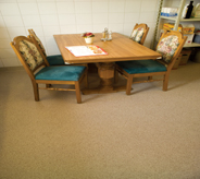Floors need to be durable in breakfast area in conference rooms and hotels.