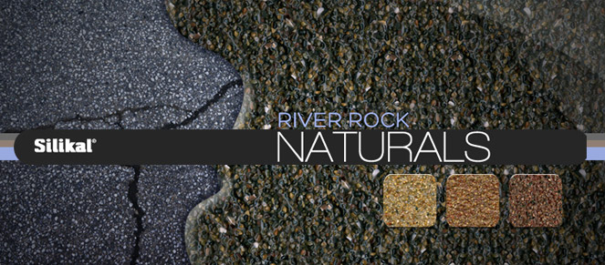 Naturals outdoor industrial flooring going over concrete with color blends below.