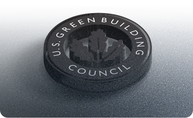 Leed logo on no VOC floor.