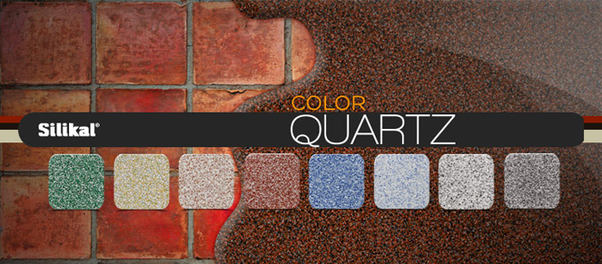 Quartz flooring color blends below a quartz system going over tile.