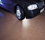 vehicle on showroom flooring